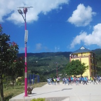 Solar street light in Nanmei school, Yunnan province