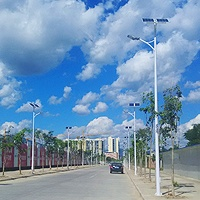Solar street light in Yunnan province