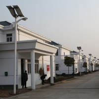 Solar street light in Shuangdun new countryside